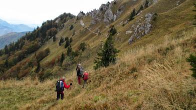 Photo: Terug klimmen naar de bergrug bij Suchý