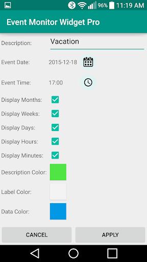 Event Monitor Widget Pro