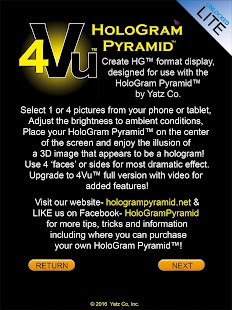 HoloGram Pyramid™ 4Vu™ LITE- screenshot thumbnail