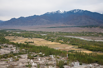 Photo: Indus Valley and Stok Kangri (elevation 6,137 m) from Thikse Monastery, Manali-Leh Highway, Ladakh, Indian Himalayas