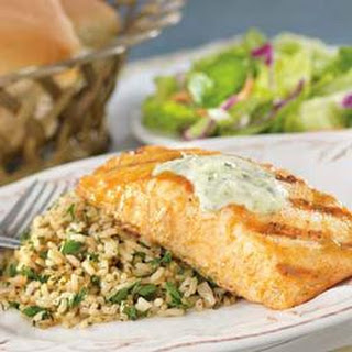 Publix Apron's Mustard and Brown Sugar Salmon With Herbed Rice.