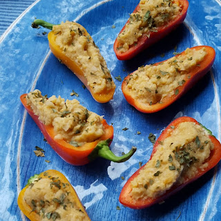 Garbanzo Stuffed Mini Peppers.