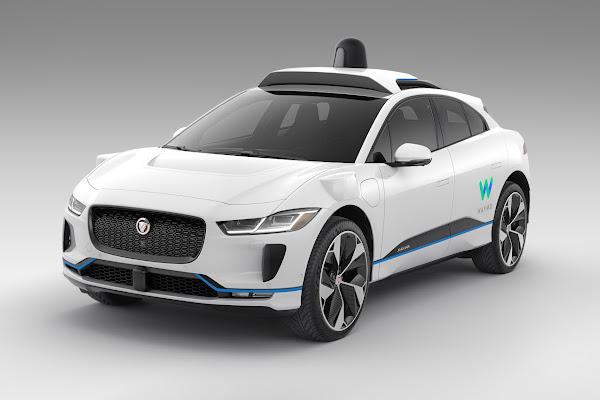Waymo's autonomously driven Jaguar I-PACE electric SUV 1 (Front)