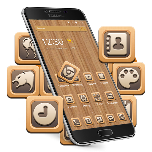 Wood Grain Tree Mobile Themes Android APK Download Free By +HOME By Ateam