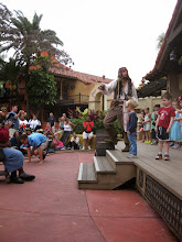 Photo: Day 4 - At the pirate show with Jack Sparrow, Grady Jeremiah got picked as a stage participant to be a pirate in training!