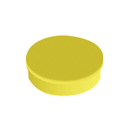 Magnet rund  20mm gul    10/fp