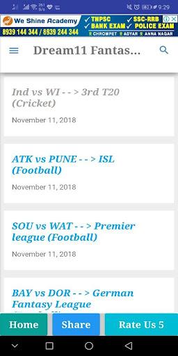 Dream11 Pro Cricket,Kabaddi,Hockey Predictions 2.0 screenshots 2