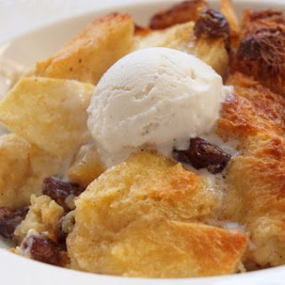 Apple Rum Raisin Bread Pudding.