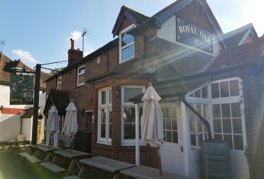 Village pub near the campsite in Sussex