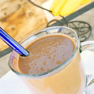 Carob Nut Banana Protein Smoothie.