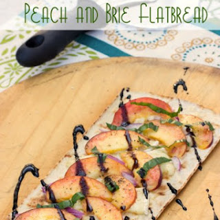 Peach and Brie Grilled Flatbread.
