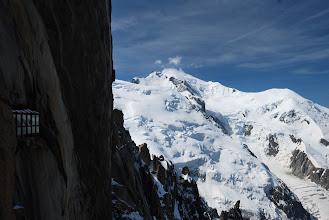 Photo: Arista de los Cosmicos con un escalador en el centro Foto Ch