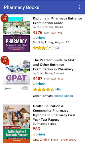 Pharmacy Books at Amazon 1.0 screenshots 1