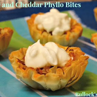 BBQ and Cheddar Phyllo Bites