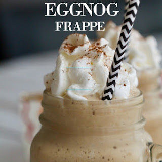 The Easiest Holiday Eggnog Frappe.