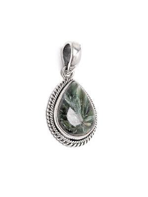 Serafinit, droppe med hänge i silver