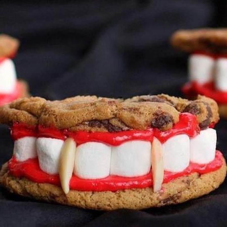 Vampire Teeth Cookies Recipe Just A Pinch Recipes