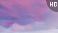 White Pink Cirrus Clouds on Violet Sky - 11