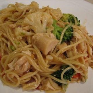 Chicken and Bacon Lo Mein
