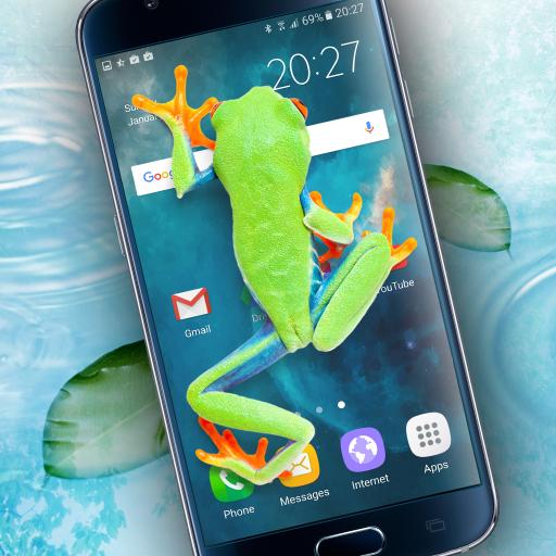 Frog walking on screen joke - Apps on Google Play