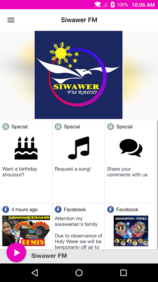 Siwawer FM- screenshot
