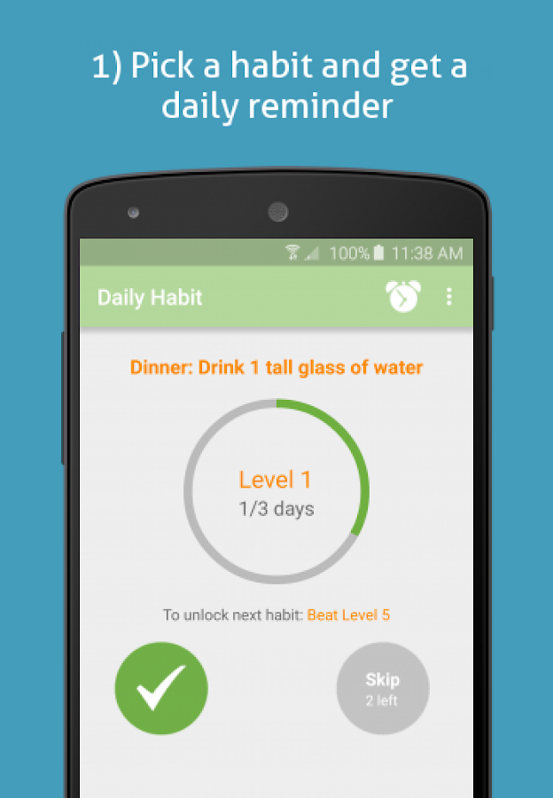 SimpleSteps- Eat healthier- screenshot