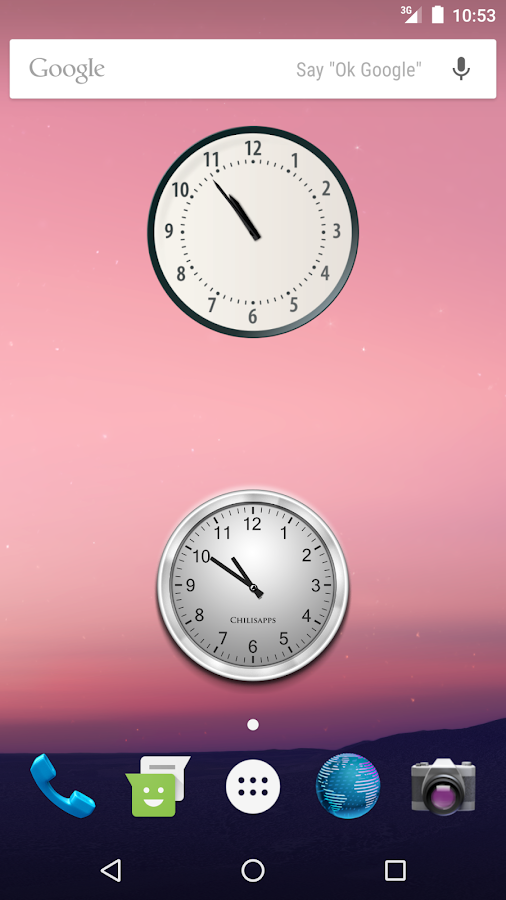 Nougat Clock for Android- screenshot