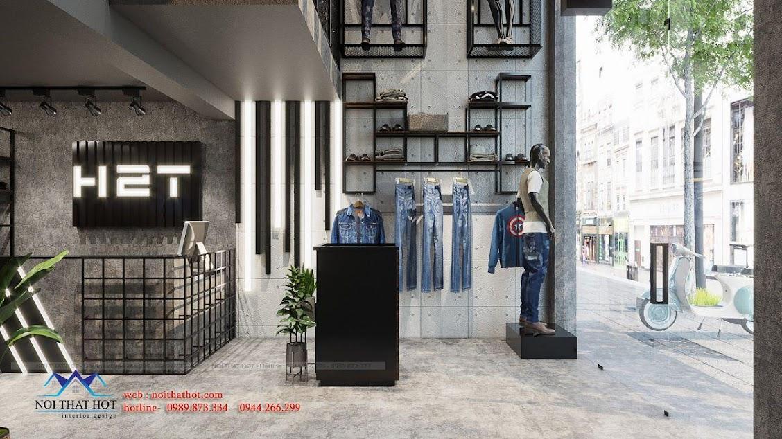 bố trí nội thất shop quần áo