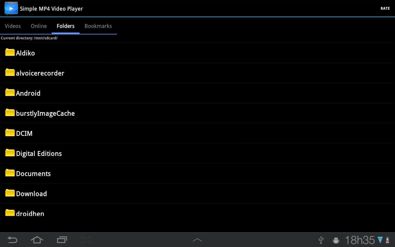 Simple MP4 Video Player- screenshot