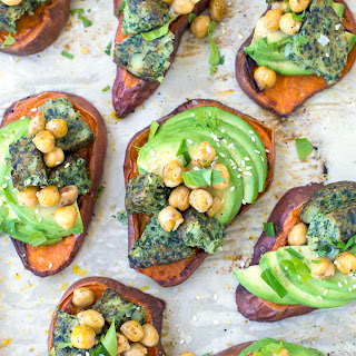 Sweet Potato Avocado Toasts.