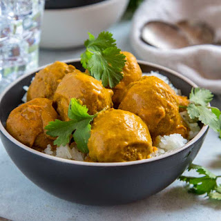 Pan Roasted Turkey Meatball Curry.
