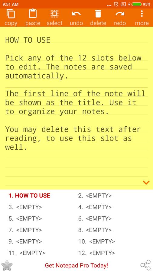 NOTEPAD Simple Note Book Pad AdFree- screenshot