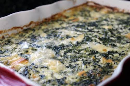 Holiday Spinach Casserole Can you preheat an oven? Cut butter and cheese?...