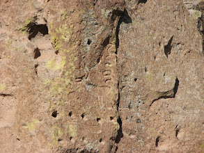Photo: There were some petroglyphs but mainly holes used for construction.