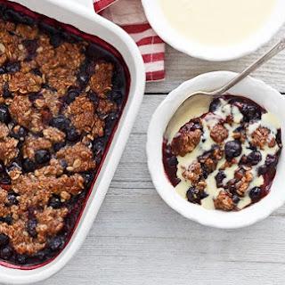 Easy Fresh Berry Crumble with Orange Cream