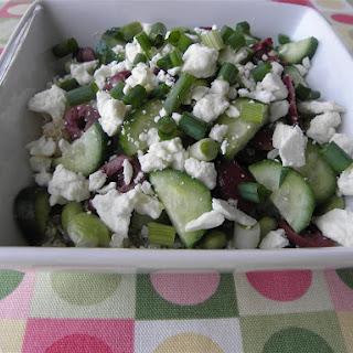 Quinoa Edamame Feta Salad.