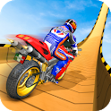 Superhero GT Bike Stunt Racing: Mega ramps games icon