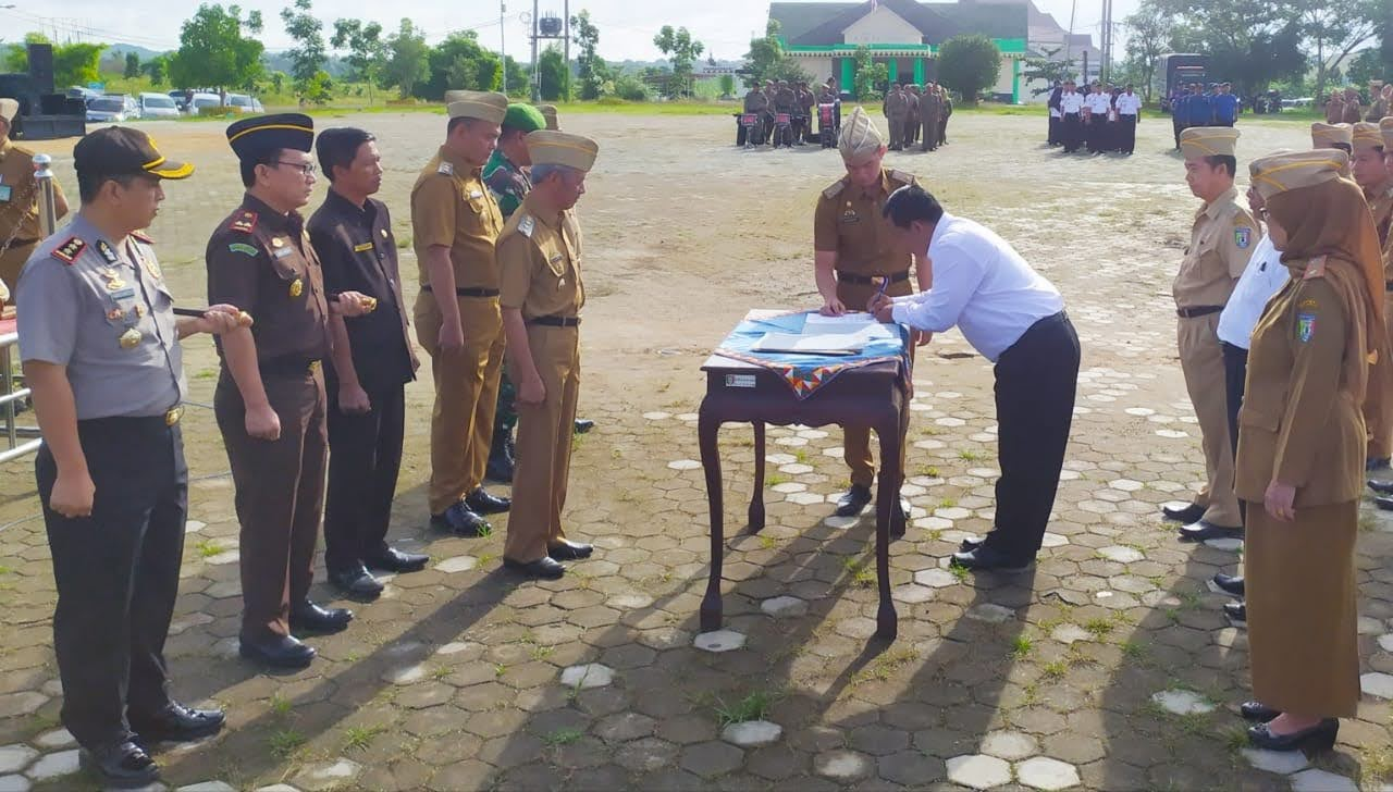 Penandatanganan Pakta Integritas Pilkakon Serentak Tahun 2020 di Kabupaten Pringsewu