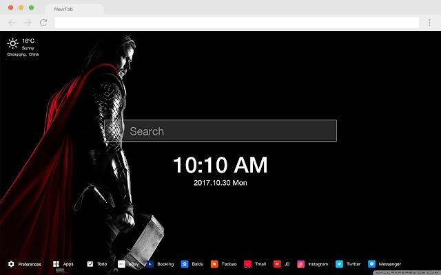 Thor Pop Marvel HD New Tabs Theme