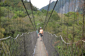 Photo: Mark is cool on a suspension bridge