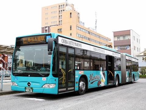 京成バス「新都心幕張線用連節バス」 4826