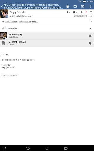 ASUS Email screenshot 7