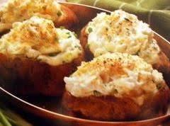 Roasted Garlic & Parmesan Twice Baked Potatoes Recipe
