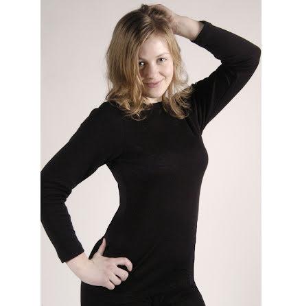 Långärmad tröja, blackwool, dam