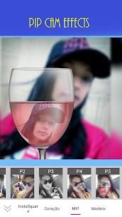 Foto Grid Colagens Snap Efeitos InstaSquare Emoji?