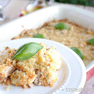 Italian Chicken and Cauliflower Casserole.