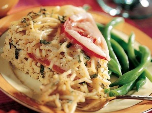 Spaghetti Basil Torte Recipe