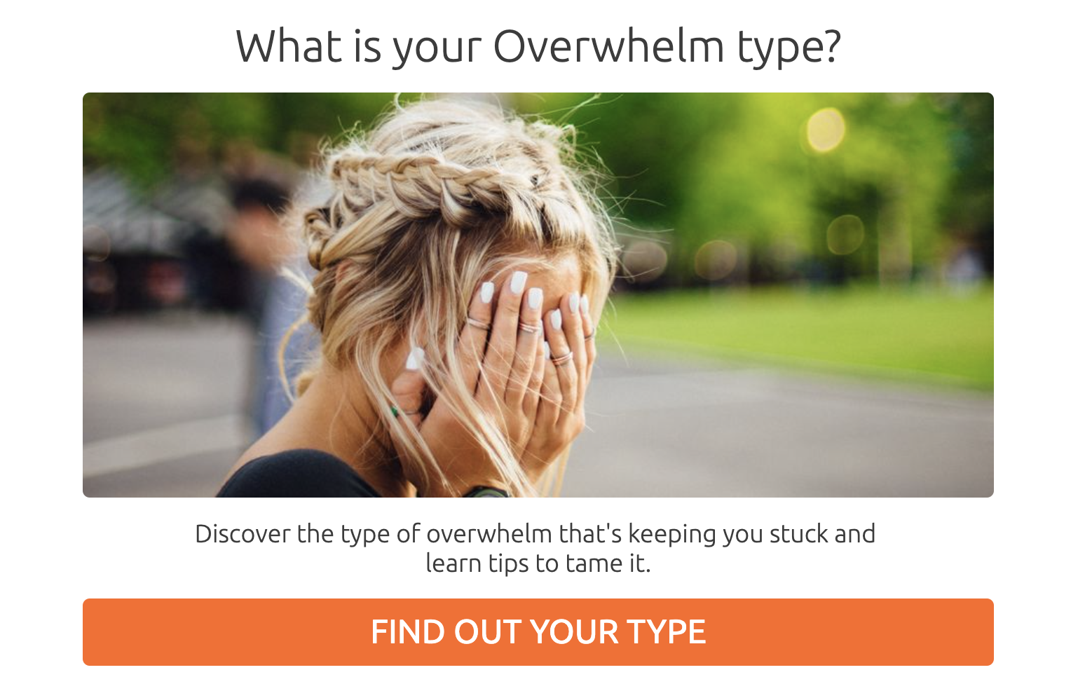 What is your overwhelm type? quiz cover