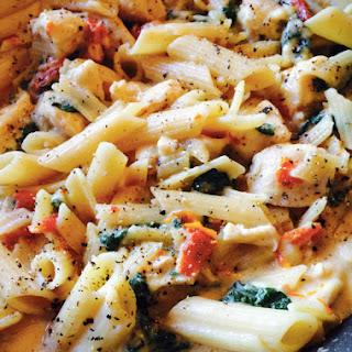 Chicken Florentine with Sun Dried Tomato Pasta