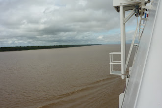 Photo: Finally The AMAZON River. Noticeably muddy!